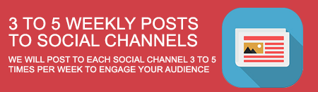 3 to 5 Weekly Posts to Social Channels